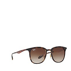 Ray-Ban - Matte havana RB4278 square sunglasses