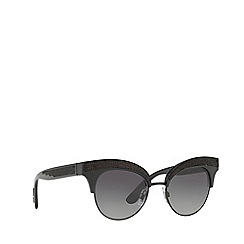Dolce & Gabbana - Black DG6109 irregular sunglasses