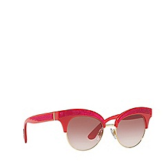 Dolce & Gabbana - Gold DG6109 irregular sunglasses
