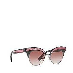 Dolce & Gabbana - Grey DG6109 irregular sunglasses