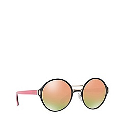 Prada - Black PR 57TS round sunglasses