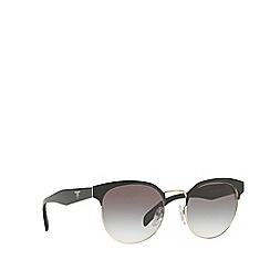 Prada - Black PR 61TS round sunglasses