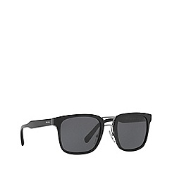 Prada - Black PR 14TS rectangle sunglasses
