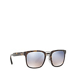Prada - Havana PR 14TS rectangle sunglasses