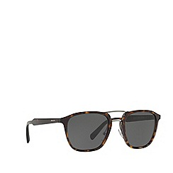 Prada - Havana PR 12TS pillow sunglasses