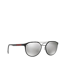 Prada Linea Rossa - Dark grey PS 55SS irregular sunglasses