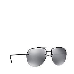 Prada Linea Rossa - Black rubber PS 53SS pilot sunglasses