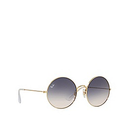Ray-Ban - Gold rb3592 round sunglasses