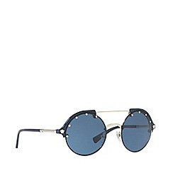 Versace - Silver VE4337 round sunglasses