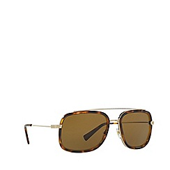 Versace - Pale gold VE2173 square sunglasses