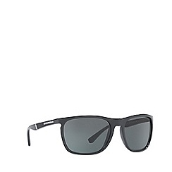 Emporio Armani - Black EA4107 rectangle sunglasses