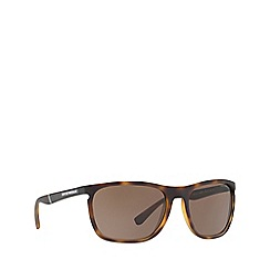 Emporio Armani - Matte havana EA4107 rectangle sunglasses