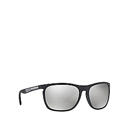 Emporio Armani - Matte black EA4107 rectangle sunglasses