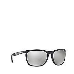 Emporio Armani - Matte black EA4107 rectangle sunglasses