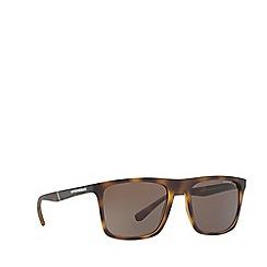 Emporio Armani - Matte havana EA4097 square sunglasses
