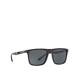 Emporio Armani - Black EA4097 square sunglasses