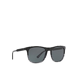 Emporio Armani - Black EA4099 square sunglasses