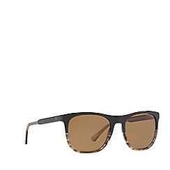 Emporio Armani - Brown EA4099 square sunglasses