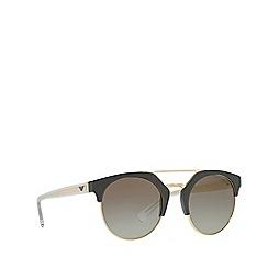 Emporio Armani - Military green EA4092 round sunglasses