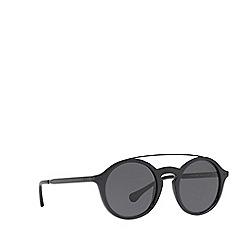 Polo Ralph Lauren - Shiny black PH4122 round sunglasses