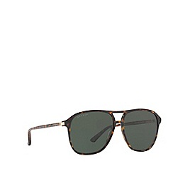 Gucci - Tortoiseshell GG0016S rectangle sunglasses