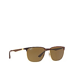 Ray-Ban - Havana RB3569 square sunglasses