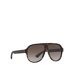 Gucci - Tortoiseshell GG0009S pilot sunglasses