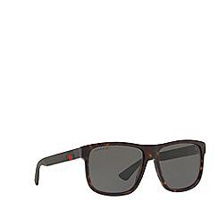 Gucci - Brown 0GC000970 Rectangle sunglasses