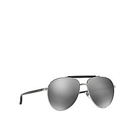 Gucci - Gunmetal GG0014S round sunglasses