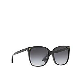 Gucci - Black GG0022S cat eye sunglasses