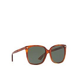 Gucci - Tortoiseshell GG0022S cat eye sunglasses