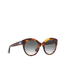 Gucci - Tortoiseshell GG0028S round sunglasses