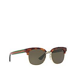 Gucci - Tortoiseshell GG0056S round sunglasses