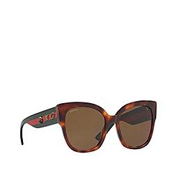 Gucci - Tortoiseshell GG0059S rectangle sunglasses