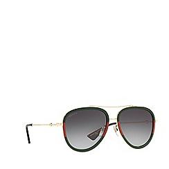 Gucci - Gold GG0062S pilot sunglasses