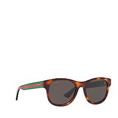 Gucci - Tortoiseshell GG0003S round sunglasses