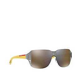 Prada Linea Rossa - Grey PS 05SS irregular sunglasses