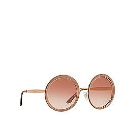 Dolce & Gabbana - Pink Gold  DG2179 round sunglasses