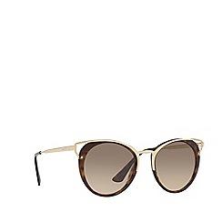 Prada - Havana PR 66TS round sunglasses
