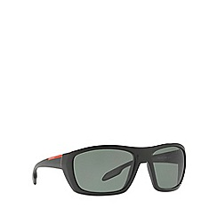 Prada Linea Rossa - Black PS 06SS rectangle sunglasses