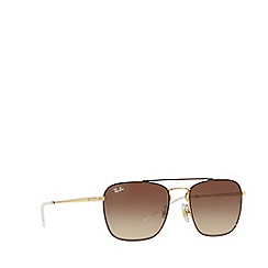 Ray-Ban - Brown rb3588 square sunglasses