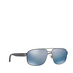 Polo Ralph Lauren - Gunmetal PH3112 pilot sunglasses
