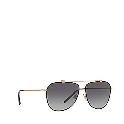 Dolce & Gabbana - Black/Gold DG2190 pilot sunglasses
