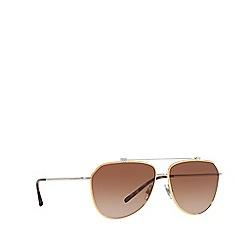 Dolce & Gabbana - Gold/Silver DG2190 pilot sunglasses