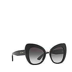 Dolce & Gabbana - Black DG4319 butterfly sunglasses
