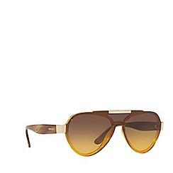 Prada - Yellow PR 01US pilot sunglasses
