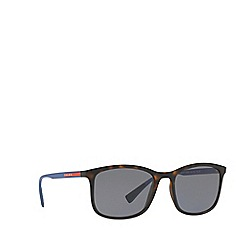 Prada Linea Rossa - Havana PS 01TS rectangle sunglasses