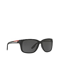 Prada Linea Rossa - Black PS 03TS rectangle sunglasses