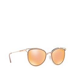 Michael Kors - Rose Gold HAVANA round sunglasses