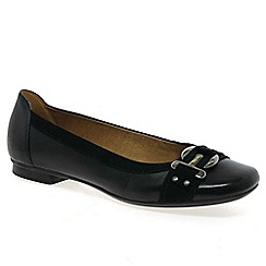 Gabor - Black 'Montana' ballet pumps